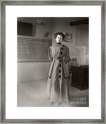 School Teacher 1890 Framed Print