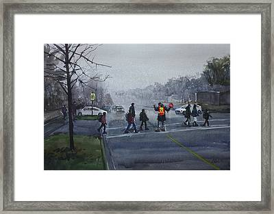 School Traffic Framed Print