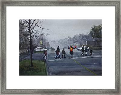 School Traffic Framed Print by Helal Uddin