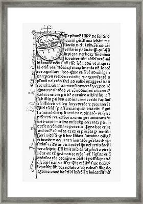 Schoolbook, 1478 Framed Print