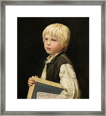 Schoolboy Framed Print