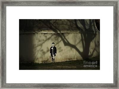 Schoolboy Framed Print by Tina Osterhoudt