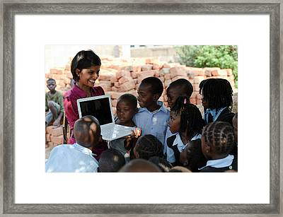 Schoolchildren Framed Print by Matthew Oldfield