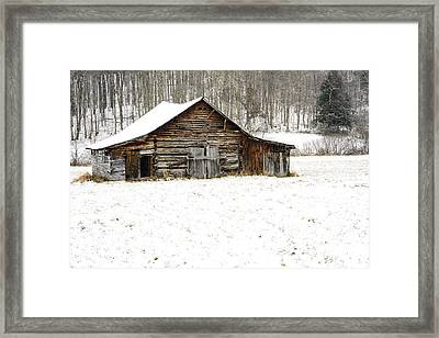 Schoolhouse Barn Framed Print by Thomas R Fletcher