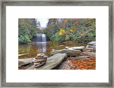 Schoolhouse Falls In Panthertown Valley Framed Print by Mary Anne Baker