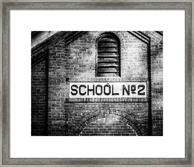 Schoolhouse No. 2 In Black And White Framed Print by Lisa Russo