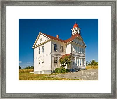Schoolhouse Framed Print by Richard and Ellen Thane