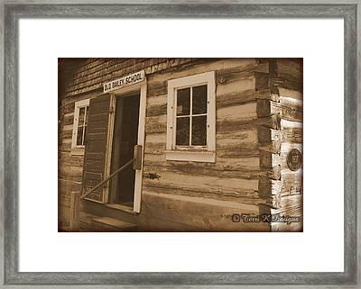 Schoolhouse Framed Print by Terri K Designs