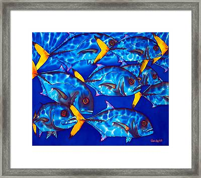 Schooling  Jack Fish Framed Print by Daniel Jean-Baptiste