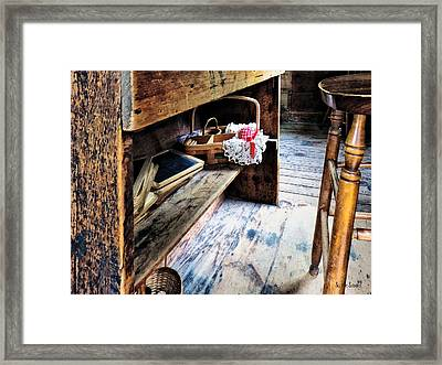 Schoolmarms Desk Framed Print by Susan Savad