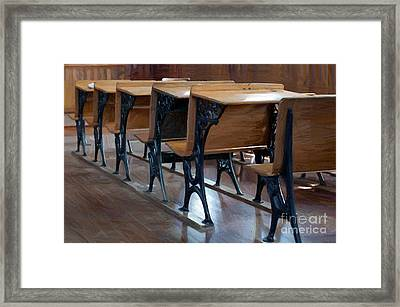 Schools Out For Summer - Pleasant Ridge Schoolhouse 1869 Framed Print by Liane Wright