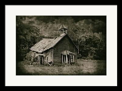 Abandoned School House Framed Prints