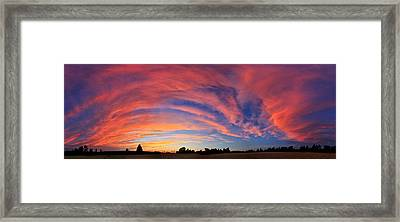 Schoolyard Sunset 2 Cloudscape Framed Print by ABeautifulSky Photography
