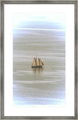 Schooner 1 Framed Print by Joe Faherty
