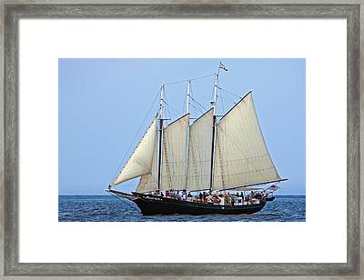 Schooner Alliance Framed Print