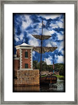 Schooner At Port II Framed Print