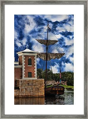 Schooner At Port IIi Framed Print