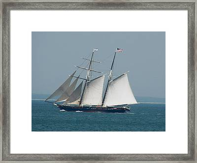 Schooner At Sail Framed Print