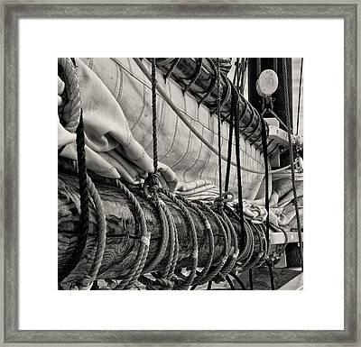 Schooner Boom Framed Print