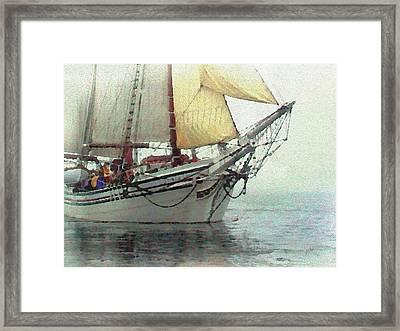 Schooner Excursion Framed Print