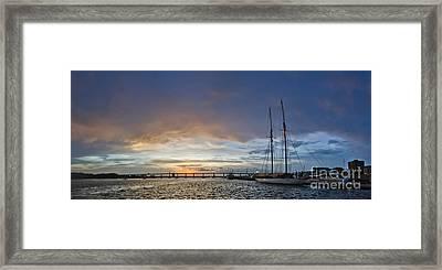 Schooner Germania Nova Sunset Framed Print