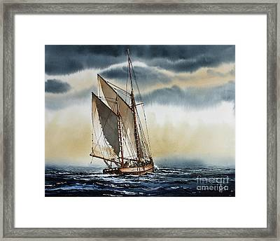 Schooner Framed Print by James Williamson