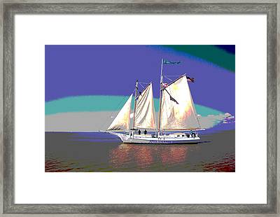 Schooner Joshua Framed Print by Charles Shoup