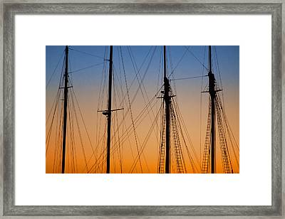 Schooner Masts Martha's Vineyard Framed Print by Carol Leigh