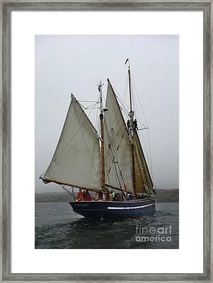 Schooner On Starboard Tack Framed Print