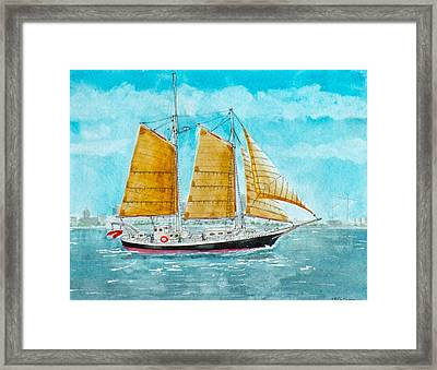 Schooner Spirit Of Independence Framed Print