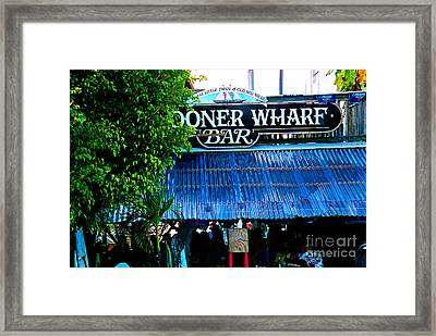 Schooner Wharf Bar In Key West Florida Framed Print