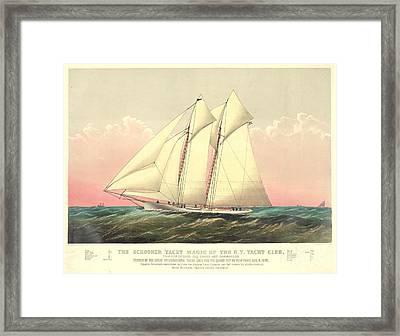 Schooner Yacht Magic 1870 Framed Print