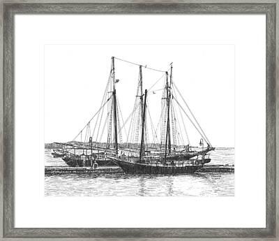 Schooners On The York River Framed Print