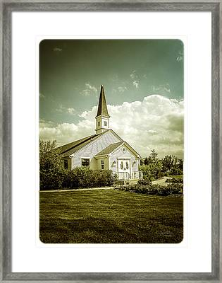 Schram Memorial Chapel Framed Print by Julie Palencia
