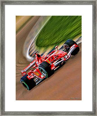 Schumacher Bend Framed Print by Blake Richards