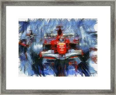 Schumi Framed Print by Tano V-Dodici ArtAutomobile