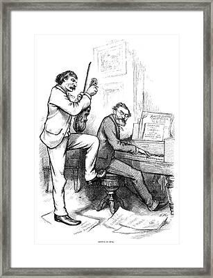 Schurz And Reid, 1876 Framed Print