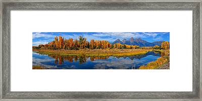 Schwabacher Autumn Reflections Panorama Framed Print