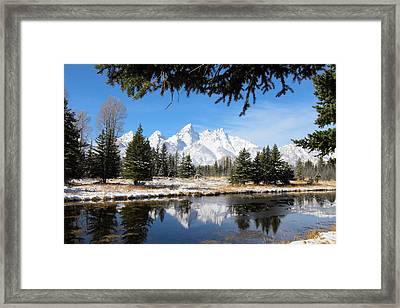 Schwabacher Landing - Grand Teton National Park Framed Print
