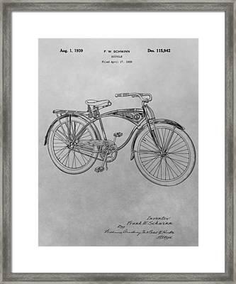 Schwinn Bicycle Framed Print by Dan Sproul