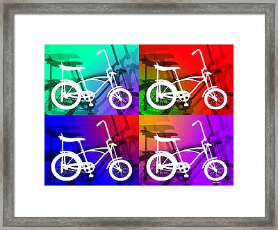 Framed Print featuring the digital art Schwinn Sting-ray by Stephen Younts