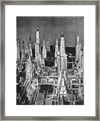 Sci-fi Film Scene Framed Print by Underwood Archives