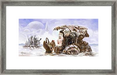 Sci Fi Girl Framed Print