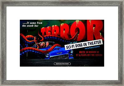 Sci Fi Theater Framed Print by Benjamin Yeager