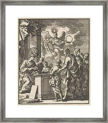Science And Divine Wisdom, Jan Luyken Framed Print