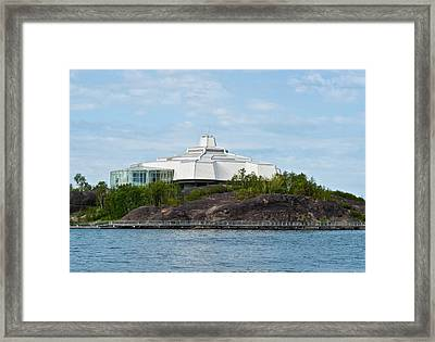 Framed Print featuring the photograph science center North in Sudbury Ontario Canada by Marek Poplawski