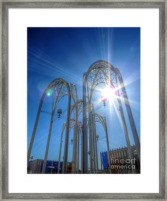 Science Center Sun Flare Framed Print by Chris Anderson