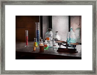 Science - Chemist - Chemistry Equipment  Framed Print by Mike Savad