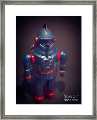 Science Fiction Vintage Robot Toy Framed Print by Edward Fielding