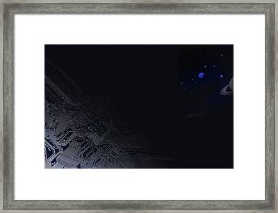Science Fiction With Technology Framed Print